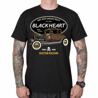 tričko pánské BLACK HEART - HOT ROD TRADICIONAL - BLACK, BLACK HEART