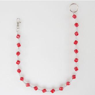 řetěz Kostky 12 - Silver/Red