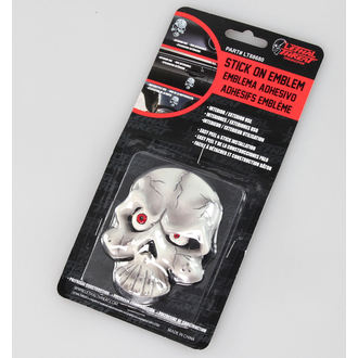 dekorace (na auto) LETHAL THREAT - Eyeball Skull Emblem, LETHAL THREAT