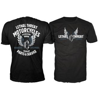 tričko pánské LETHAL THREAT - Lt Motorcycles - Black, LETHAL THREAT