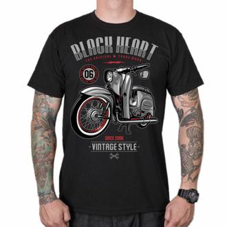 tričko pánské BLACK HEART - VINTAGE STYLE - BLACK, BLACK HEART