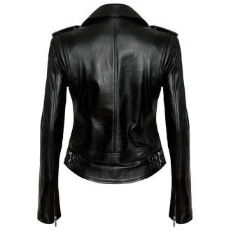 bunda dámská (křivák) KILLSTAR - Vegan Biker - Black - K-LTR-F-1333