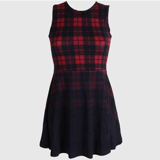 šaty dámské KILLSTAR - Tartan Skater - Black - KIL045