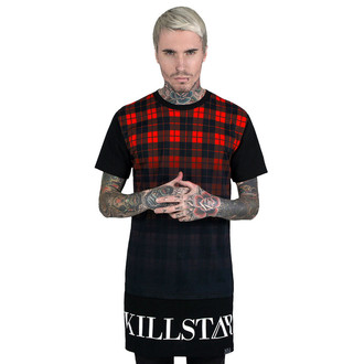 tričko unisex (tunika) KILLSTAR - Tartan - Black, KILLSTAR