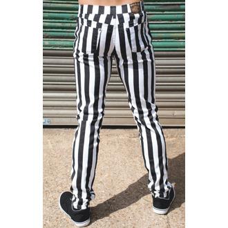 kalhoty (unisex) 3RDAND56th - Stripe Skinny - Blk/WHT - JM1105