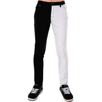 kalhoty pánské 3RDAND56th - Split Leg Skinny - Blk/Wht, 3RDAND56th