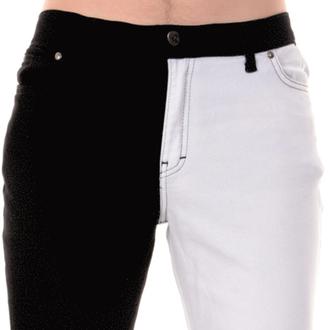 kalhoty pánské 3RDAND56th - Split Leg Skinny - Blk/Wht