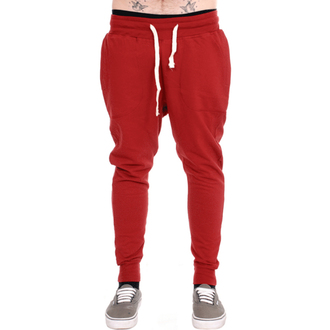 kalhoty unisex (tepláky) 3RDAND56th - Carrot Fit Jogger - Claret, 3RDAND56th