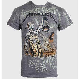 tričko pánské Metallica - Justice Neon All - Over Premium - RTMTLTSCHNEO
