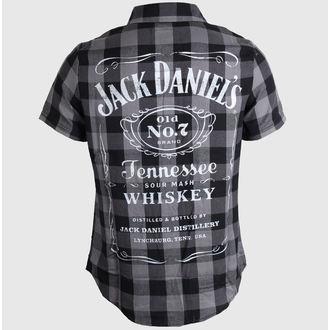 košile pánská Jack Daniels - Checks - Black/Grey, JACK DANIELS