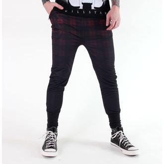 kalhoty (tepláky - unisex) KILLSTAR - Tartan - B/R, KILLSTAR