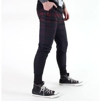 kalhoty (tepláky - unisex) KILLSTAR - Tartan - B/R