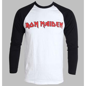 tričko pánské s dlouhým rukávem Iron Maiden - Logo - ROCK OFF - IMRL03MW