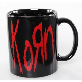 hrnek Korn - Logo - ROCK OFF, ROCK OFF, Korn