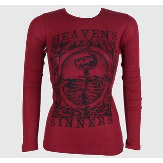 tričko dámské s dlouhým rukávem SE7EN DEADLY - Heaven Sinners Red, SE7EN DEADLY