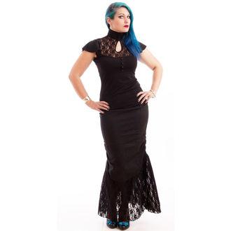 sukně dámská NECESSARY EVIL - Nepthys Lace and Twill Fishtail - Black