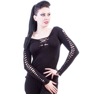 tričko dámské s dlouhým rukávem NECESSARY EVIL - Ghotic - Black, NECESSARY EVIL