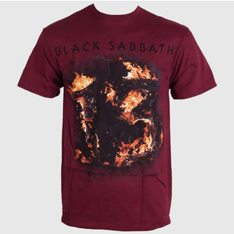 tričko pánské Black Sabbath - Twe Maroon - Red - BRAVADO, BRAVADO, Black Sabbath