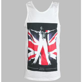 tílko pánské Freddie Mercury - Flag - White - BRAVADO, BRAVADO, Queen