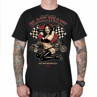 tričko pánské BLACK HEART - PIN UP RACE - BLACK, BLACK HEART