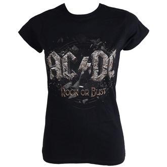 tričko dámské AC/DC - Rock Or Bust - Black - LIVE NATION, LIVE NATION, AC-DC