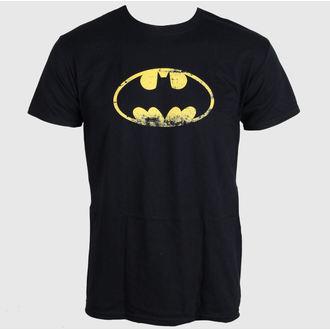 tričko pánské Batman - Distressed Logo - Black - LIVE NATION, LIVE NATION