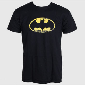 tričko pánské Batman - Distressed Logo - Black - LIVE NATION - PE10777TSBP