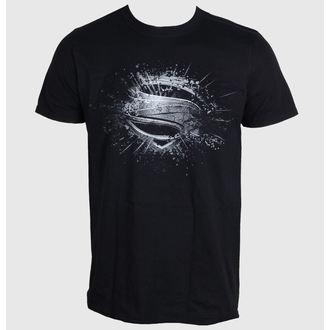 tričko pánské Superman - Man Of Steel - Errored - Black - LIVE NATION, LIVE NATION