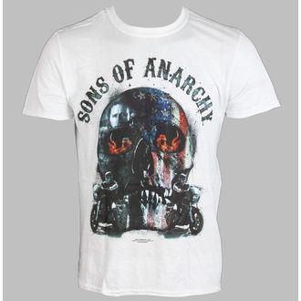 tričko pánské Sons Of Anarchy - Biker Skull - White - LIVE NATION