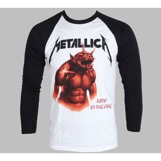 tričko pánské s dlouhým rukávem Metallica - Jump In The Fire - White