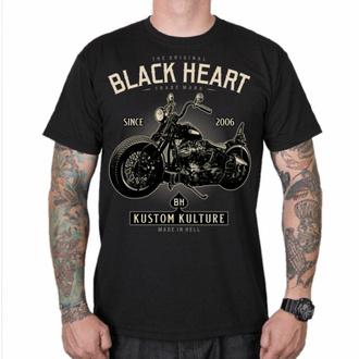 tričko pánské BLACK HEART - MOTORCYCLE - BLACK, BLACK HEART