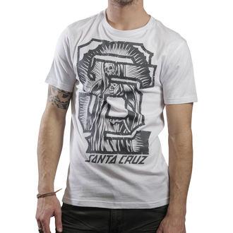 tričko pánské SANTA CRUZ - Guad Block - White, SANTA CRUZ
