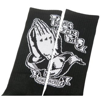 ponožky SANTA CRUZ - Praying Hand - Black, SANTA CRUZ