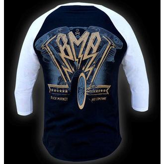 tričko pánské s 3/4 rukávem BLACK MARKET - Ian McNiel - American Iron Baseball, BLACK MARKET