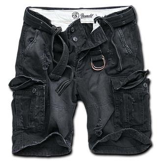 kraťasy pánské Brandit - Shell Valley Heavy Vintage - Black, BRANDIT