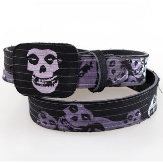 pásek Misfits - BIOWORLD - Black Leather