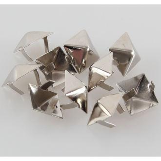 pyramidy kovové - 10ks, BLACK & METAL