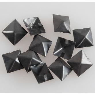 pyramidy kovové BLACK - 10ks, BLACK & METAL