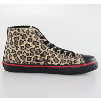 boty pánské VISION - Canvas HI - Brown/Black Leopard