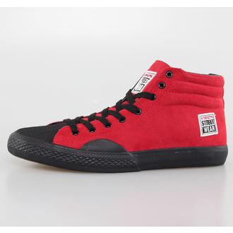 boty pánské VISION - Suede HI - Red/Black, VISION