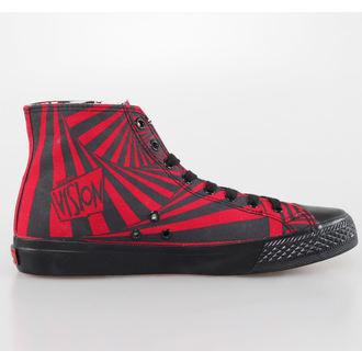 boty pánské VISION - Canvas HI - Red/Black Hypno