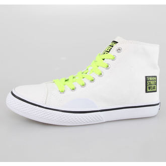 boty dámské VISION - Canvas HI - White/Safety Yellow, VISION