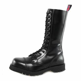 boty NEVERMIND - 14 dírkové - Black Polido, NEVERMIND