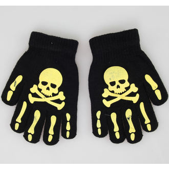 rukavice Skull - Black/Yellow