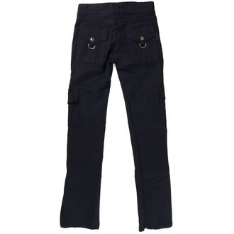 kalhoty dámské HERD LEATHER STUFF - Black, NNM