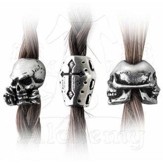 korálky (3ks) na vlasy (vousy) ALCHEMY GOTHIC - Janus/Coffin/Alchemist, ALCHEMY GOTHIC
