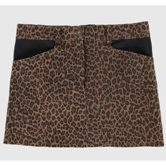 sukně dámská COLLECTIF - Brown