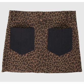 sukně dámská COLLECTIF - Brown, NNM