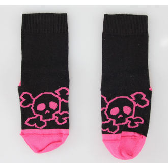 ponožky dětské LEATHER HEAVEN - Pink Skull