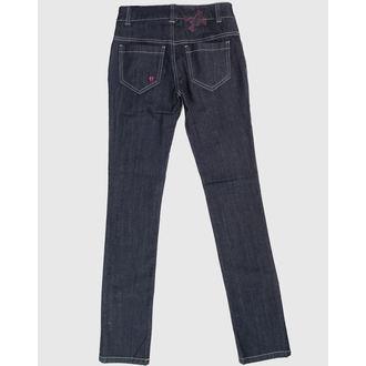 kalhoty dámské HELL BUNNY - Blue, HELL BUNNY